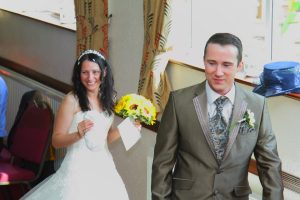 Bride and Groom Burntwood Staffordshire 1