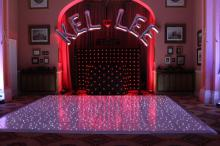Mobile disco with Led Dancefloor Leaminghton Spa