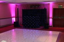Uplighters and Dance floor in Leamington Spa