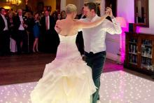 beautiful white starlit dance Floor