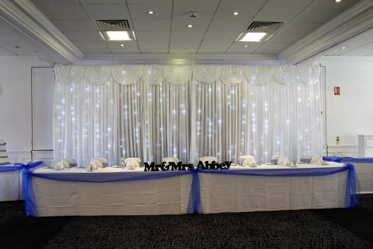 top table led backdrop