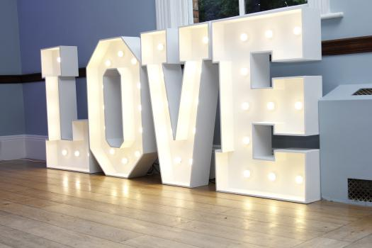 Large Love Led Letters
