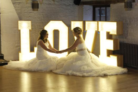 White Love Led Letters