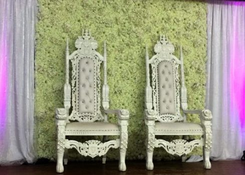 Wedding Bride and Groom Thrones